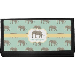 Elephant Canvas Checkbook Cover (Personalized)