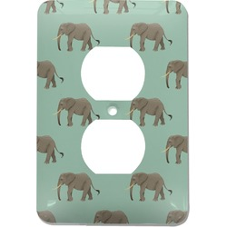 Elephant Electric Outlet Plate (Personalized)