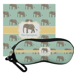 Elephant Eyeglass Case & Cloth (Personalized)