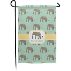 Elephant Garden Flag - Single or Double Sided (Personalized)