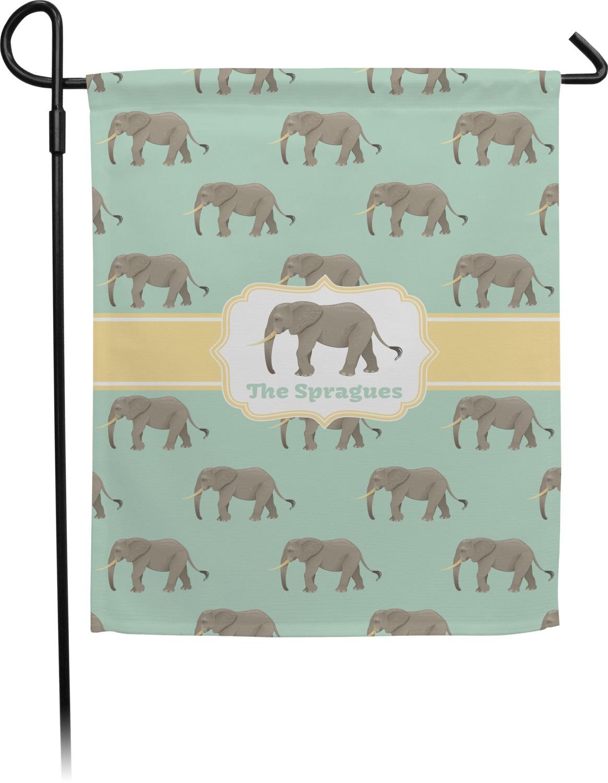 Elephant Garden Flag (Personalized) - YouCustomizeIt