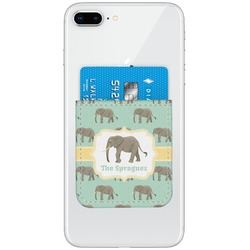 Elephant Genuine Leather Adhesive Phone Wallet (Personalized)