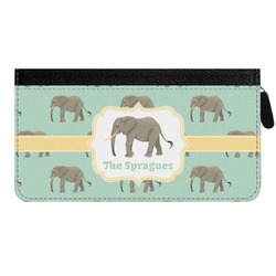 Elephant Genuine Leather Ladies Zippered Wallet (Personalized)