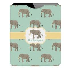 Elephant Genuine Leather iPad Sleeve (Personalized)