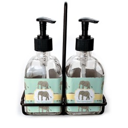 Elephant Soap & Lotion Dispenser Set (Glass) (Personalized)