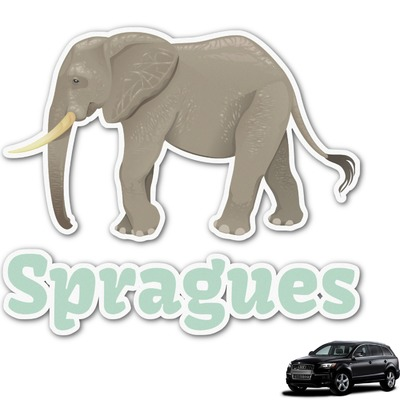 Elephant Graphic Car Decal (Personalized)
