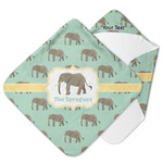 Elephant Hooded Baby Towel (Personalized)