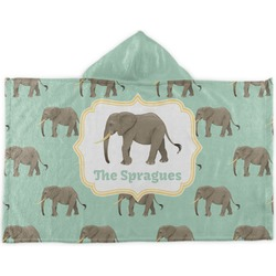 Elephant Kids Hooded Towel (Personalized)