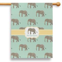 """Elephant 28"""" House Flag (Personalized)"""