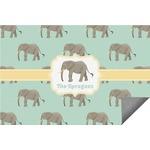 Elephant Indoor / Outdoor Rug (Personalized)