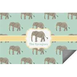 Elephant Indoor / Outdoor Rug - 6'x9' (Personalized)