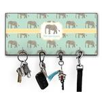 Elephant Key Hanger w/ 4 Hooks (Personalized)