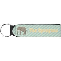 Elephant Neoprene Keychain Fob (Personalized)