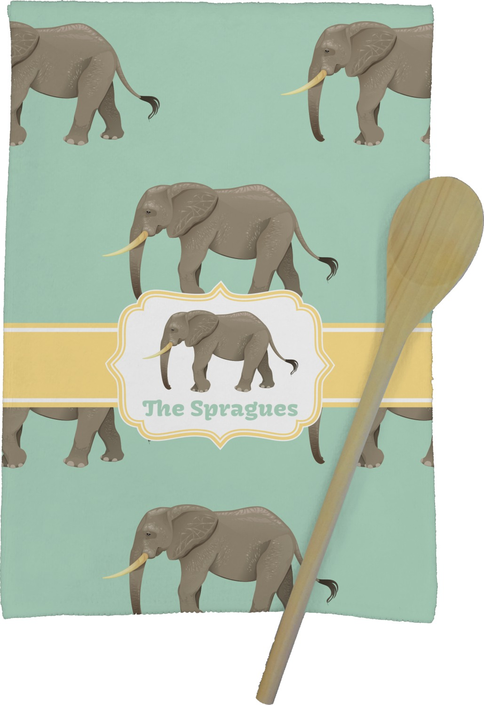 Merveilleux Elephant Kitchen Towel   Full Print (Personalized)