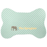 Elephant Bone Shaped Dog Food Mat (Personalized)