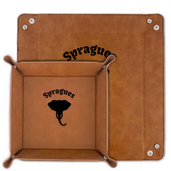 Elephant Faux Leather Valet Tray (Personalized)