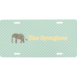 Elephant Front License Plate (Personalized)