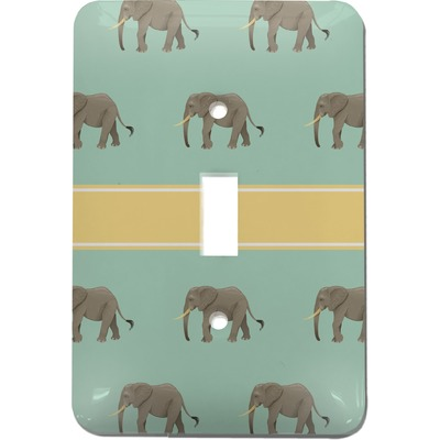 Elephant Light Switch Cover Single Toggle Personalized