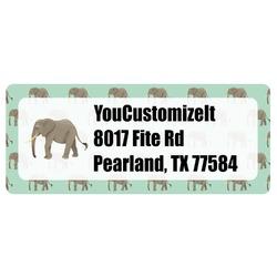 Elephant Return Address Label (Personalized)