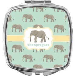 Elephant Compact Makeup Mirror (Personalized)