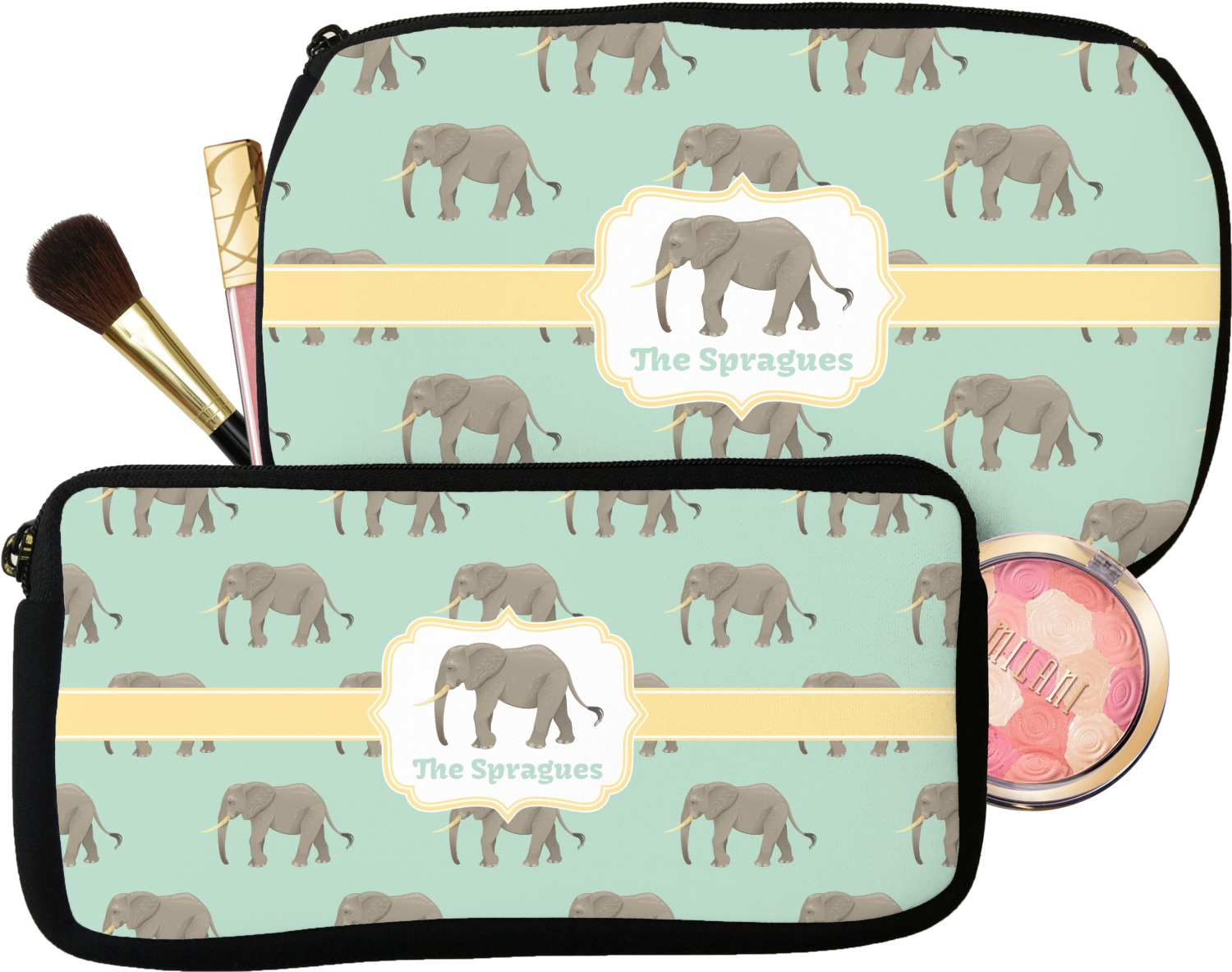29d561936c78 Elephant Makeup   Cosmetic Bag (Personalized) - YouCustomizeIt