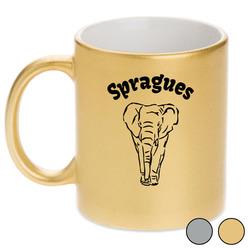 Elephant Metallic Mug (Personalized)