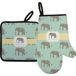 Elephant Oven Mitt & Pot Holder (Personalized)