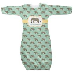 Elephant Newborn Gown (Personalized)