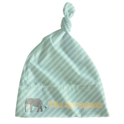 Elephant Newborn Hat - Knotted (Personalized)