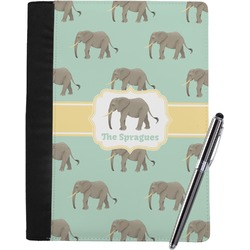 Elephant Notebook Padfolio - Large w/ Name or Text