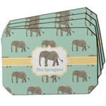Elephant Dining Table Mat - Octagon w/ Name or Text