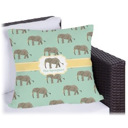 """Elephant Outdoor Pillow - 26"""" (Personalized)"""