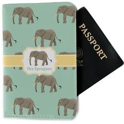 Elephant Passport Holder - Fabric (Personalized)