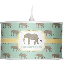 Elephant Drum Pendant Lamp (Personalized)