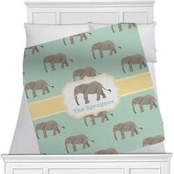 Elephant Minky Blanket (Personalized)