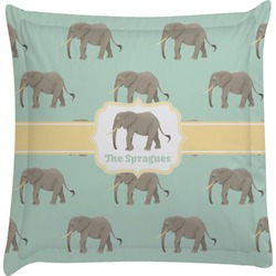 Elephant Euro Sham Pillow Case (Personalized)