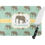 Elephant Rectangular Glass Cutting Board (Personalized)