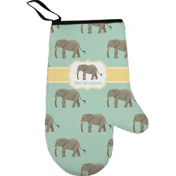 Elephant Right Oven Mitt (Personalized)
