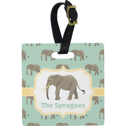 Elephant Square Luggage Tag (Personalized)
