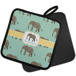Elephant Pot Holder w/ Name or Text