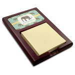 Elephant Red Mahogany Sticky Note Holder (Personalized)