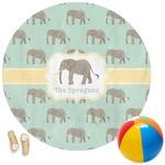 Elephant Round Beach Towel (Personalized)