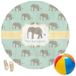 Elephant Round Beach Towel (Personalized)