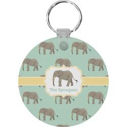 Elephant Round Keychain (Personalized)