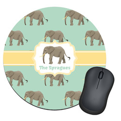 Elephant Round Mouse Pad (Personalized)