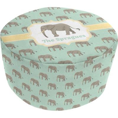 Elephant Round Pouf Ottoman (Personalized)