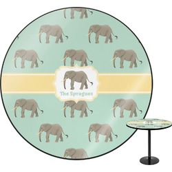 "Elephant Round Table - 30"" (Personalized)"