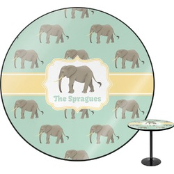 Elephant Round Table (Personalized)