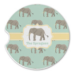 Elephant Sandstone Car Coasters (Personalized)