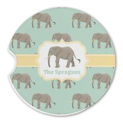 Elephant Sandstone Car Coasters (Personalized)